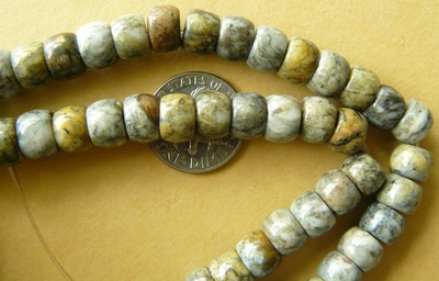 "Picasso Marble Beads Rondelles 5x8mm 16"" strands"
