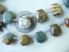 "Picture Jasper Carved Nugget Beads 16"" Strand"