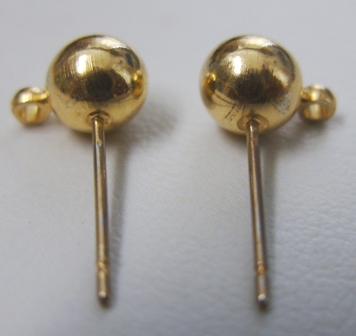 Posts - 4mm: 45 Pieces - 6mm: 15 Pieces - 24Kt. Gold Over Copper