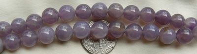 Purple Chalcedony Beads- 8mm 16 inch Strands