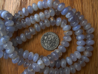 Purple Chalcedony Rondelle Beads 5x8mm 16 Inch Strands