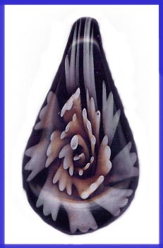 Purple Flower Glass Pendant