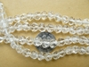 Quartz Flower beads Uniquey carved  6mm beads ready to wear