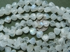Rainbow moonstone Fat Drops avg. 9x10mm 15 inch strand