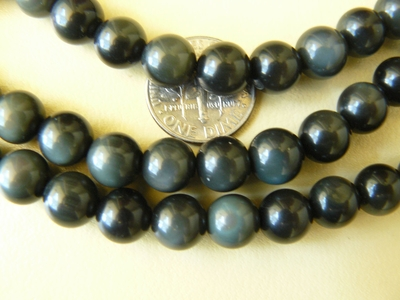 Rainbow Obsidian beads 8mm round