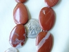 Red Banded Jasper oval Beads 21x30x5mm 16 inch Strands