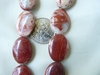 "Red Banded Jasper ovals 12x18x5mm 16"" Strands"