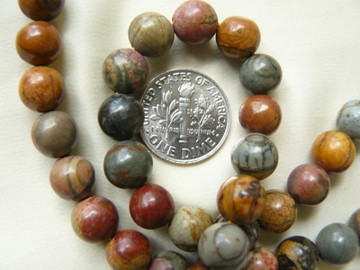 Red creek Jasper 8mm Round Beads