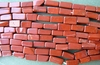 "Red Jasper Red Brick Beads 5x9mm  16"" Strands"