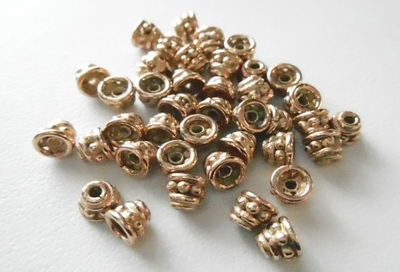 Cap - 4x5mm - 40 Pieces - Rose Gold Over Copper<br>SIBC12