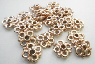 Connector - 8mm - 20 Pieces - Rose Gold Over Copper<br>SIB133