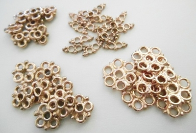 Connectors - Rose Gold Over Copper -