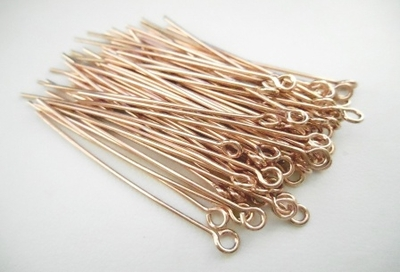 "Eye Pins - 1.5"" - 68 Pieces - Rose Gold Over Copper<br>SHE"
