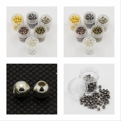 Round Spacer Beads With assorted colors gold silver copper gun metal