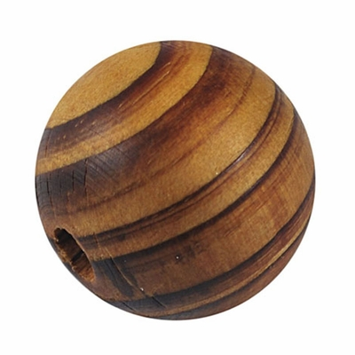 Round Wood Beads, Lead Free, Burl Wood 3 Pieces Size- about 30mm in diameter, 29mm thick, hole- 6mm