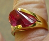Ruby Lazer Cut CZ Ring with choice of sizes 5 to 10