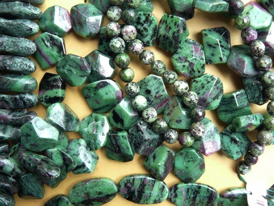 Ruby Zoisite Beads Natural stone with many shapes