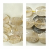 "Rutilated Quartz Beads Oval Shape 6x13x18mm 16"" Strands"