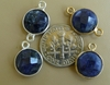Sapphire Quartz  faceted gems with 1 or 2 loops silver or gold 10mm