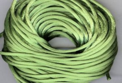Satin Cord - Apple Green