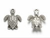 Sea Turtle Tibetan Style Alloy Charm Pendants, Cadmium Free & Lead Free, Antique Silver, 16x12.5x3mm, Hole: 1.5mm