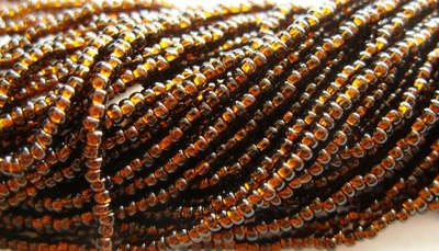 Silver Lined Root Beer 10/0 Seed Bead