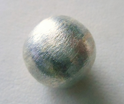 Mat Bead - 14.5x16mm - 1 Bead - Sterling Silver<br>ORSB-1909