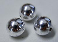 Round beads 999 Silver over copper core 2MM 400 beads
