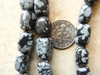 Snow Flake Obsidian Mini Nugget Beads 8x12mm Avg. size