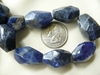 Sodalite Faceted Beads larger Chunky uniform beads