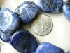 "Sodalite Flat Chunky Beads 14 beads 28x30mm 16"" strands"