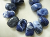 Sodalite Top Drilled Beads 18x11x7mm tapered rectangle
