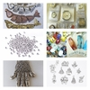 Specialty Beads worry fish, watch faces Charms, Art Glass