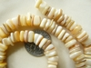 "Square Heishi style shell chip beads 6.5mm 16"" strands"