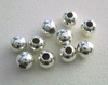 Round Bead - 4mm - 10 Pieces - Sterling Silver<br>SS-3000-4MM