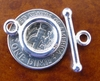Toggle Clasp - 12mm w/ 19mm Bar - Sterling Silver