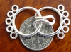 Five Ring Clasp - 16mm - 5 Clasps - Sterling Silver<br>SS/6022/5-10