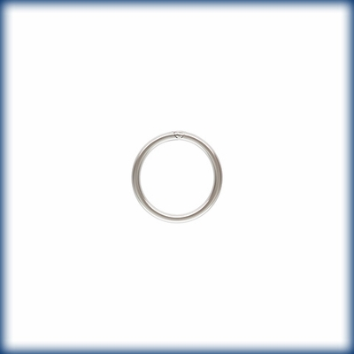 Sterling Silver 8mm CLOSED Jump rings 25 pack