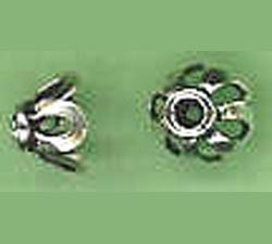 Bali Style Bead Cap - 6mm - 2 Pieces - Sterling Silver<br>BC21