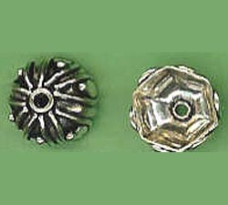 Bali Style Bead Cap - 13mm - 2 Pieces - Sterling Silver<br>BC23