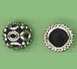 Bali Style Bead Cap - 5mm: 9 Pieces - 6mm: 7 Pieces - 8mm: 5 Pieces - Sterling Silver<br>BC24