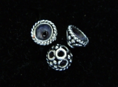 Bali Style Bead Cap - 5mm - 7 Pieces - Sterling Silver<br>BC27