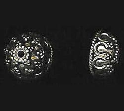 Bali Style Bead Caps - 12mm - 2 Pieces - Sterling Silver<br>BC17