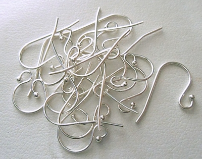Ball End Ear Wire - 20 Pieces - Sterling Silver<br>SS/120