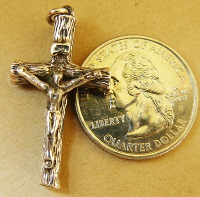 Crucifix- 19x32mm - 1 Piece - Sterling Silver