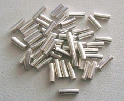 Curved Tube - 1.5x5mm - 50 Pieces - Sterling Silver<br>CT-1