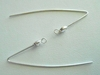 Earwire with CZ Diamond - 1-Pair - Sterling Silver<br>5006602