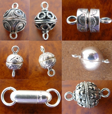 Sterling Silver Magnetic Clasps