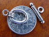 Oval Toggle Clasp 14mm w/ 23mm Bar Sterling Silver T216 1piece
