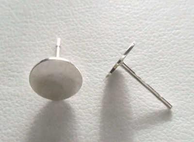 Post w/ 8mm Pad - 1 Pair - Sterling Silver<br>SS-520-8-2